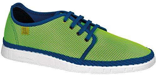Potomac Canvas Sneaker Halbschuhe Sommer Schnürer blau neon gelb