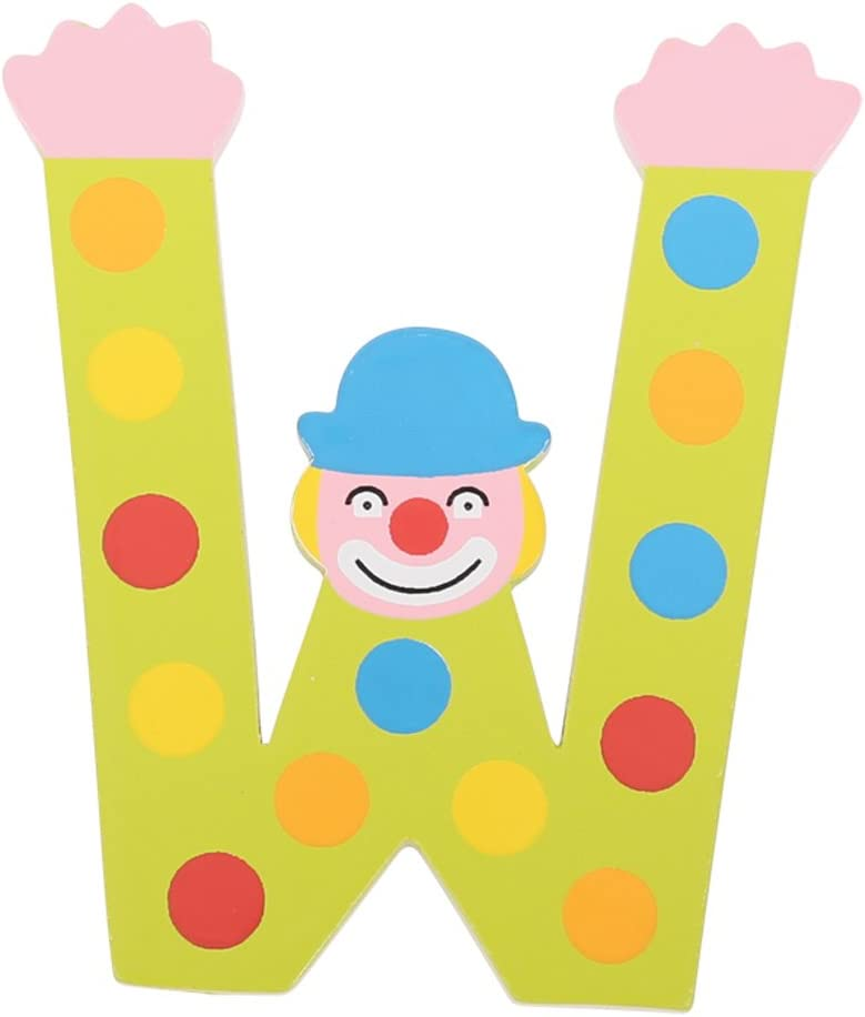 Pois Tatiri Lettre en Bois Clown color/é S Orange