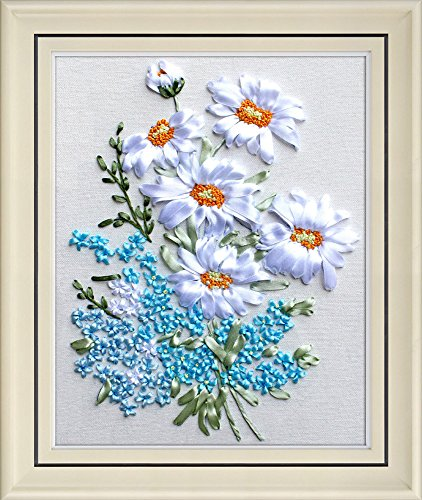 Wandafull Ribbon embroidery Kit Handmade Flower(No frame)