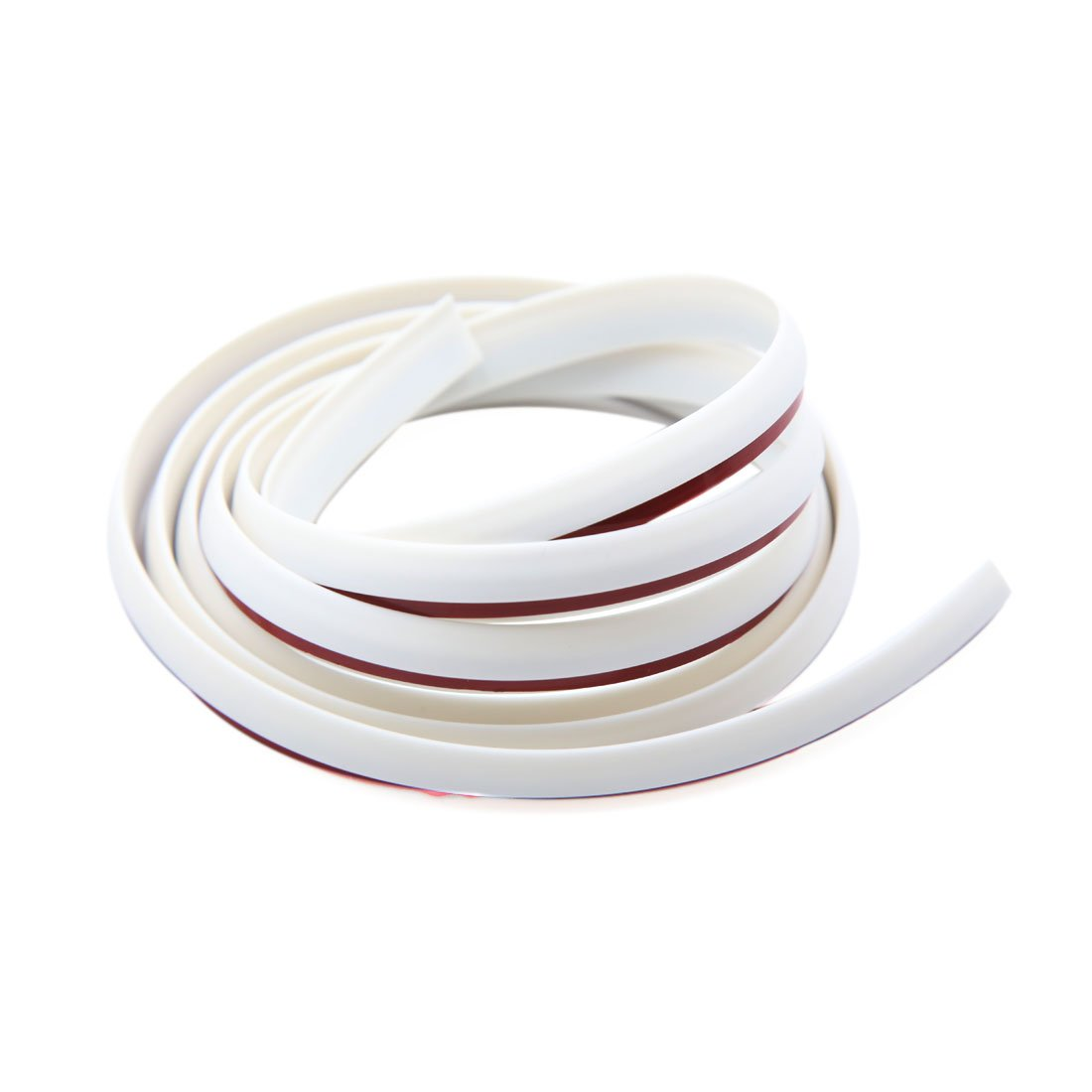 uxcell a16122900ux0100 White Rubber Seal Door Edge Guard Mold Trim Protection Strip for Car Vehicle