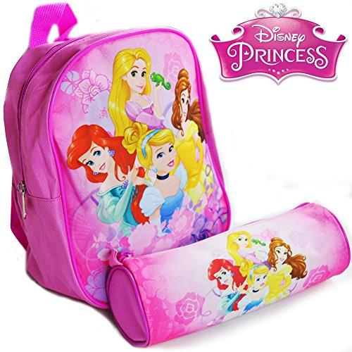 Kit Principesse Disney Zaino Zainetto Asilo con Astuccio Tombolino Originale Disney Scuola