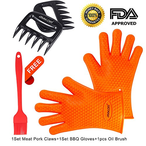 bbq-grilling-glovesasscom-1-set-silicone-bbq-cooking-gloves-1-set-meat-shredder-pulled-meat-separate