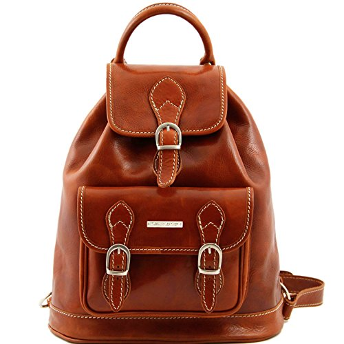 Tuscany Leather Singapore Leather - Backpack Honey by Tuscany Leather
