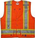 Viking Open Road Surveyor Hi-Vis Safety Vest, Hi-Vis Orange, XX-Large