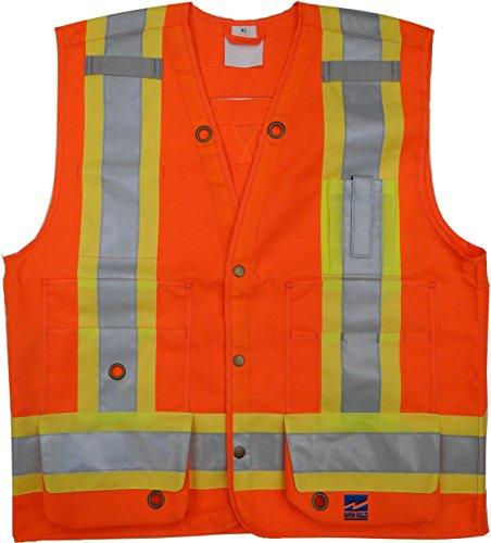 Viking Open Road Surveyor Hi-Vis Safety Vest, Hi-Vis Orange, XX-Large by Viking (Image #1)