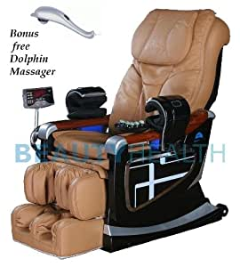 Forever Rest Premium Massage Chair BUILT IN HEAT* body scan*(TOP OF THE LINE) 10yr. Warranty (Beige Carmel)