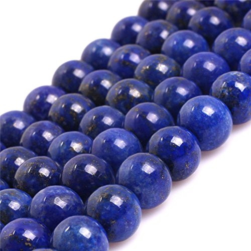 Blue Lapis Lazuli Beads for Jewelry Making Natural Gemstone Semi Precious 8mm Round AAA Grade 15