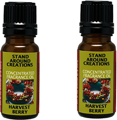 Set of 2 - Concentrated Fragrance Oil - Harvest Berry: Cinnamon blended w/cranberries w/hints of ginger, anise and clove. Made w/essential oils.(.33 fl.oz.)