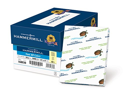 Hammermill Paper, Colors Cream, 20lb, 8.5x11, Letter, 5000 Sheets / 10 Ream Case, (168030C), Made In The USA