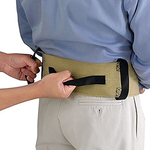 Sammons Preston Walking Belt with Loops, Limited Mobility Aid for Elderly, Disabled, & Handicapped, Ambulation & Movement Aid, Transfer Belt for Secure Walk Assistance, Medium, (Mobility Walking Aids)