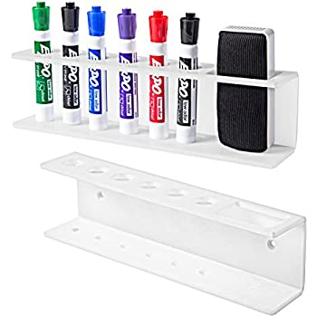 Amazon.com : 6 Slot White Acrylic Dry Erase Board Marker