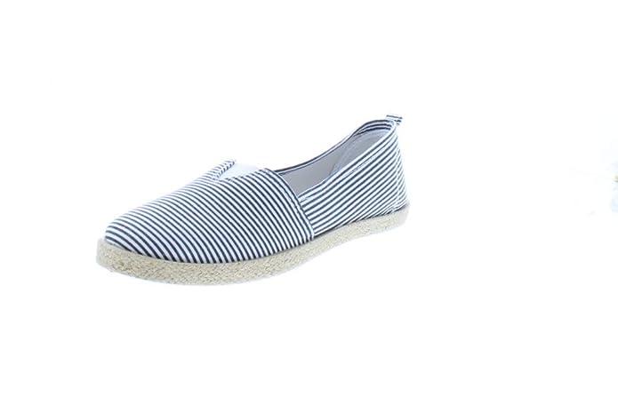 Amazon.com   Gold Toe Womens Rani Canvas Alpargatas Espadrille Flat Casual Summer Style Comfy Slip On Walking Shoe   Slippers
