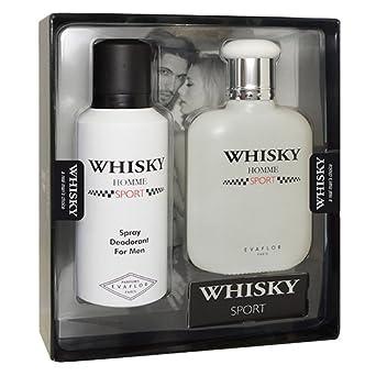 WHISKY Cofre de perfume HOMME SPORT blanco hombre Colección Otoño/Invierno EVAFLOR 3509161562671