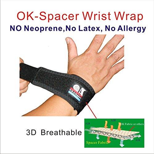 IRUFA,WR-OS-12, 3D Breathable Elastic Fabric Wrist Brace for Tennis, Wrist Injury,TFCC Tear, Triangular Fibrocartilage Complex Injuries, Ulnar Sided Wrist Pain, Weight Bearing Strain, One PCS