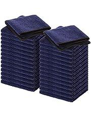 Wemk Microvezeldoeken, microvezel reinigingsdoekjes, 290 g/m², extreem zachte, pluisvrije poetsdoeken voor de verzorging van huishouden en auto, 23,5 x 33,5 cm
