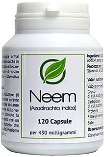 Neem (Azadirachta indica) 120 Cápsulas en caja para preservar el aroma por cada 430