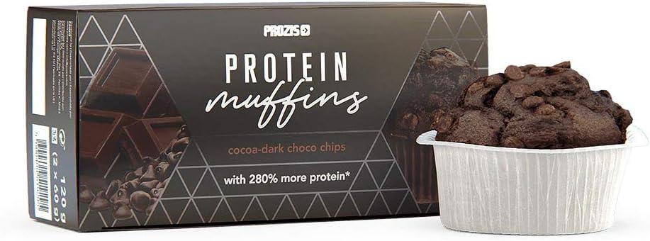 Prozis 2 x Protein Muffins – Cacao con gotas de chocolate ...