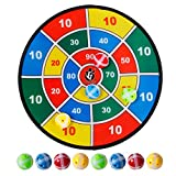 PINCHUANGHUI 14.5inch Safety Dart Board With 8 Sticky Ball For Children.