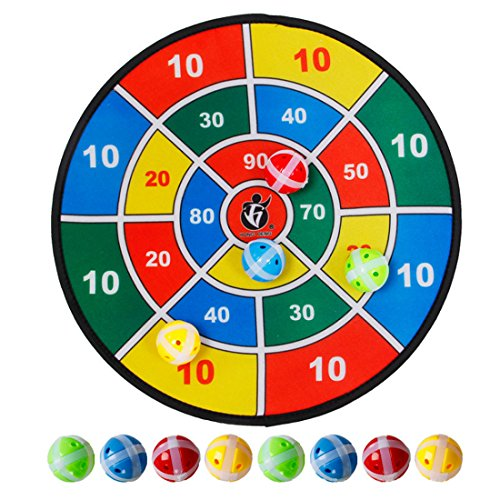 PINCHUANGHUI 14.5inch Safety Dart Board With 8 Sticky Ball For Children. by PINCHUANGHUI