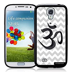 Galaxy S4 Case - S IV Case - Shawnex Grey Chevron Ohm Yoga Samsung Galaxy i9500 Case Snap On Case