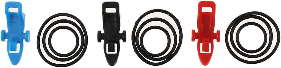SaniMomo 3X ABS Kunststoff Angelruten Hakenhalter Und Elastische O Ringe Aus Gummi