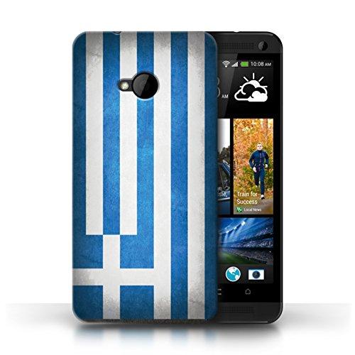 Etui / Coque pour HTC One/1 M7 / Grèce/Grec conception / Collection de Drapeau