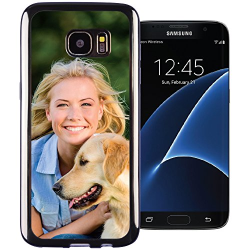 Galaxy S7 edge PixCase - Create Your Own Custom Case - Personalize It Yourself – Insert photos or create custom designs online and change anytime - Shock absorbing case with clear picture window - Edge Photo