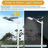 120W LED Solar Street Lights Outdoor Lamp, Dusk to