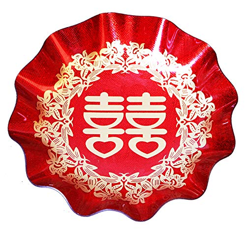 Chinese Paper Plates (MasterChinese Double Happiness Oriental Chinese Wedding Party Plastic Plate 7