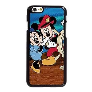 Funda iPhone 6 6S 4,7 pulgadas del teléfono celular Negro Funda de Mickey Mouse L2G0TM