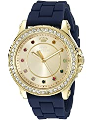 Juicy Couture Womens 1901239 Pedigree Analog Display Quartz Blue Watch