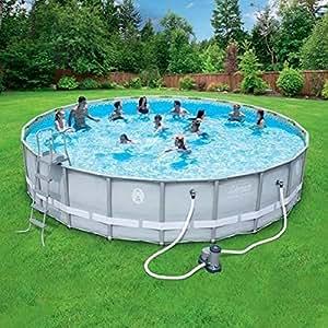 Amazon.com : Coleman-22-x52-Power-Steel- Frame Above-Ground Swimming ...