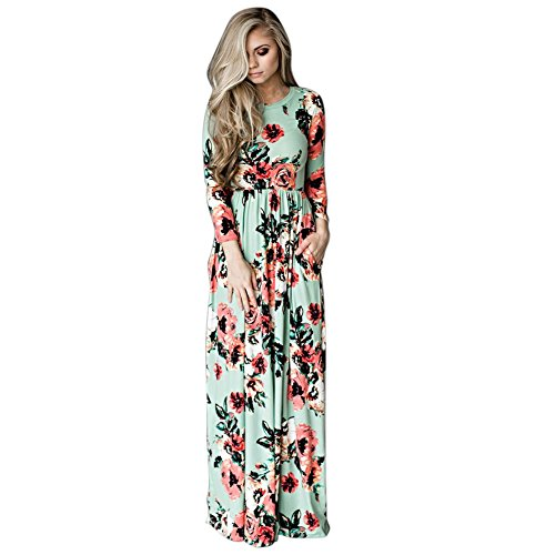 New ETOSELL Women Long Print Dress Long Dress Floral Printed Length Party Evening Formal Dress for cheap