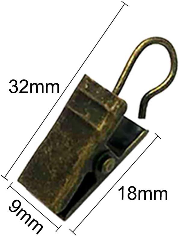 Bronze antique Lot de 20 crochets pour rideau de douche avec crochet crochets pour rideau de douche