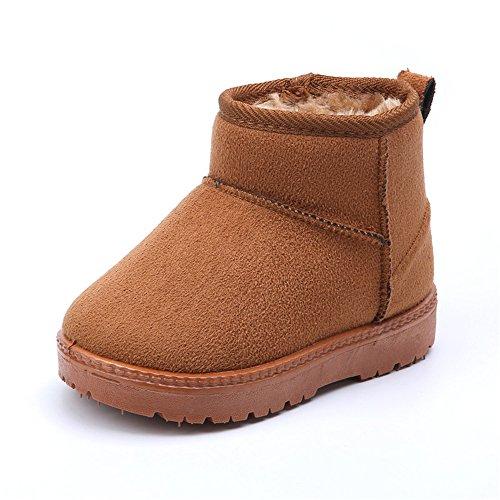 MK MATT KEELY Winter Boots for Boy Girl Soft Warm Shoes Toddler Khaki Snow Boots (Toddler/Little Kid)