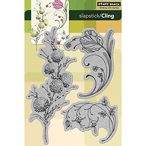 Penny Black 238446 Delicate Florals Cling Rubber Stamp, 5 by 7.5-Inch by Penny Black