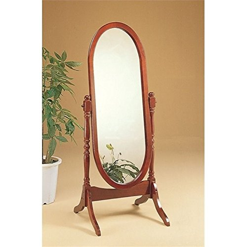 BOWERY HILL Oval Cheval Mirror in Cherry ()