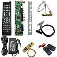 V56 LCD TV Controller Driver Board Full Kit DIY Monitor for 30pin 2ch-8bit 4pcs CCFL LVDS Panel LCD Accessories