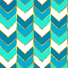 Gilded Ombre Aqua by willowlanetextiles - Custom Fabric with Spoonflower - Printed on Organic Cotton Knit Fabric by the Yard