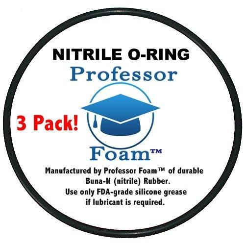 (3 Pack) Whirlpool WHKF-DWHV, WHCF-DWHV, WHKF-DWH & WHKF-DUF Water Filter O-rings from Professor Foam Professor FoamTM