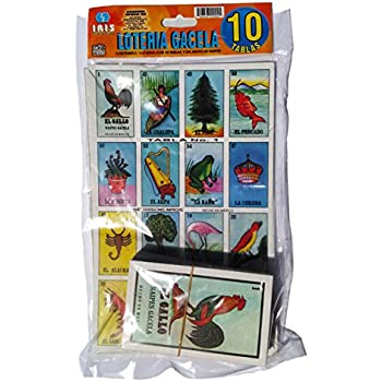 Loteria Mexicana Family Set of 10 Boards and Cards