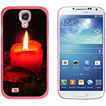 Graphics and More Christmas Candle - Advent Wreath Holiday - Snap On Hard Protective Case for Samsung Galaxy S4 - Pink