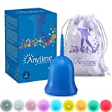 ANYTIME Premium Reusable Menstrual Cup - FDA Approved - #1 Recommended Period Cup Alternative to Tampons and Pads - Bonus Travel Bag (Small Pre-Birth, Blue)