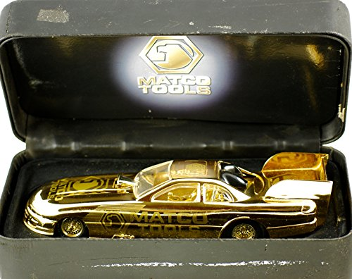 Matco Tools 1996 - Racing Champions Dean Skuza / Gold Dodge Nitro Funny Car - Numnered - 1:24 Scale Die Cast - Padded Case - OOP - VG - Collectible