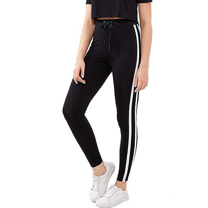 Mujer Pantalones Mallas Mujer Fitness Elásticos Mallas Moda Pantalones Color sólido Leggings Slim Fit Mayas Largos Pantalones Gym Yoga Cintura Alta ...