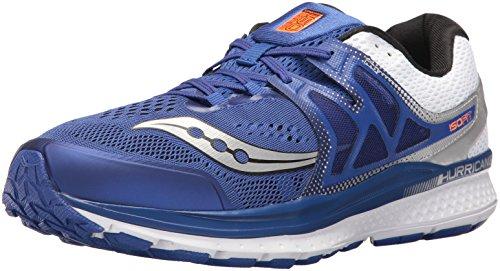Saucony Men's Hurricane ISO 3 Running Shoe, Blue/White, 9.5 M US