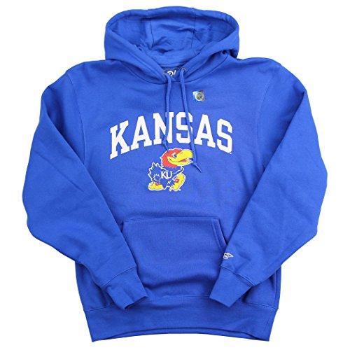 Blue 84 NCAA Arch Adult Hooded Sweat Shirt (Kansas Jayhawks, X-Large)