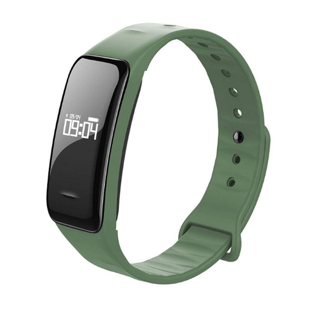 Vert LXY élégant Bracelet bleutooth élégant Affichage Horizontal Et Vertical étanche Montre Intelligente (Couleur   Noir)