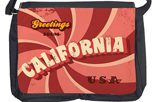 Borsa Tracolla Retro Arte Metropole California Stampato