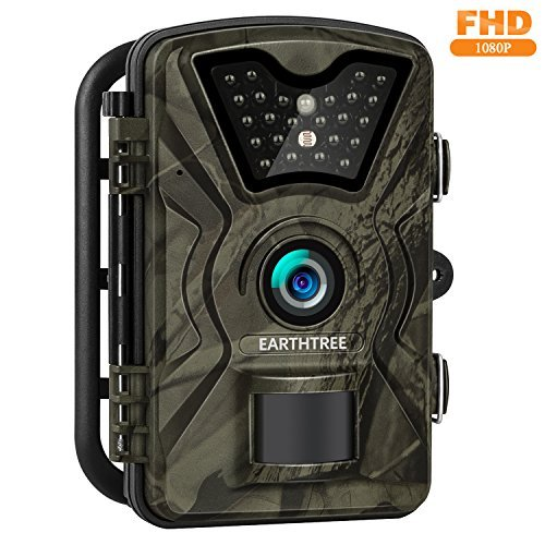 Earthtree Trail Game Camera FHD 1080P Deer Hunting Camera with 940nm IR LEDs,0.5s Trigger Speed,Up...
